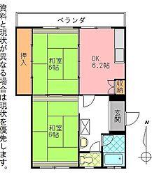 岩田材木ビル[406号室]の間取り