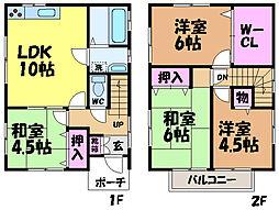[一戸建] 愛媛県松山市福音寺町 の賃貸【愛媛県/松山市】の間取り