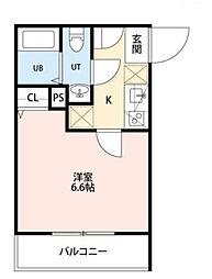 板橋区中台B棟[301号室]の間取り