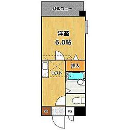 ホワイトシャトー清水弐番館[4階]の間取り