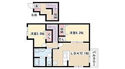 愛知県名古屋市南区大同町2丁目の賃貸アパートの間取り