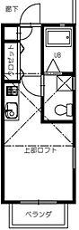 ハーシュハイム[2階]の間取り