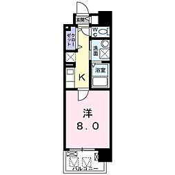 京阪本線 滝井駅 徒歩2分の賃貸マンション 5階1Kの間取り
