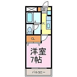 トワール・ニシノミヤ[205号室]の間取り