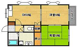 兵庫県神戸市北区鈴蘭台東町4丁目の賃貸アパートの間取り