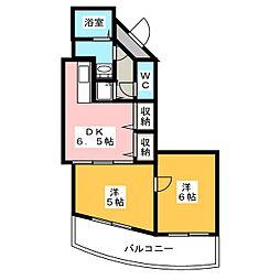 ツインズKII[2階]の間取り