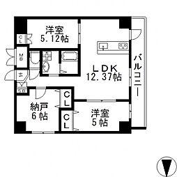 HERITAGE高井田(ヘリテイジ)[906号室号室]の間取り