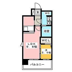 グランフォーレ博多駅東プレミア 2017年築[2階]の間取り