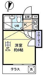 ハピネス八千代台[1階]の間取り