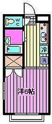 セントラルマンションII[3階]の間取り