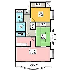 ドリームハイツルナ[3階]の間取り