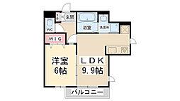 兵庫県伊丹市鋳物師1丁目の賃貸アパートの間取り