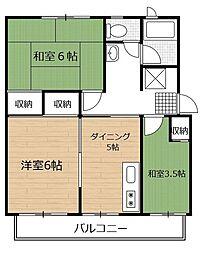 戸塚富士見丘ハイツE棟[5階]の間取り