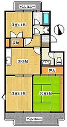 椿峰ロイヤルガーデン[3階]の間取り