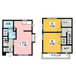 シャーメゾンG[1階]の間取り