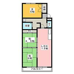 サンシティーマンション[1階]の間取り