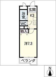 ダーハムグリーン[3階]の間取り