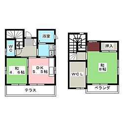 [一戸建] 静岡県浜松市中区板屋町 の賃貸【静岡県 / 浜松市中区】の間取り