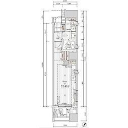 レグラス川崎[9階]の間取り