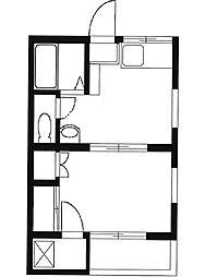 メゾンハシモト[3階]の間取り