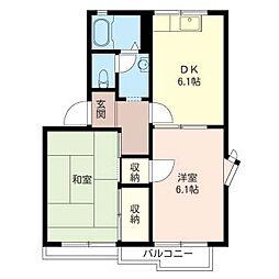 サンシャインプラザ[2階]の間取り