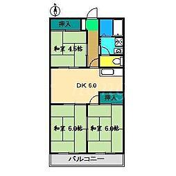 山本マンションI[3階]の間取り