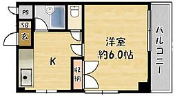 ロータリーマンション香里北之町[4階]の間取り