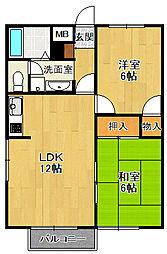 メゾン浜田[2階]の間取り