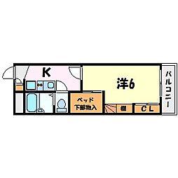 YURIKAGO[1階]の間取り