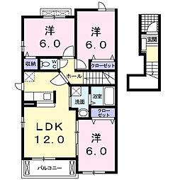 D-believeIVB[2階]の間取り
