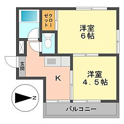 東京都江戸川区南小岩5丁目の賃貸マンションの間取り