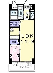 JR宇野線 備前西市駅 徒歩37分の賃貸マンション 7階1LDKの間取り
