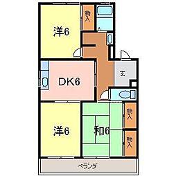 パークハイツ東刈谷[3階]の間取り