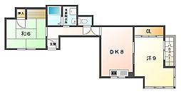 シティライフ林II[3階]の間取り