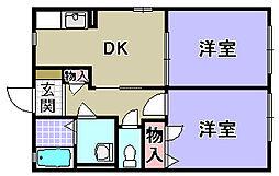 エスポワール A棟[A201号室]の間取り