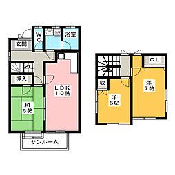 [一戸建] 三重県名張市桔梗が丘5番町 の賃貸【三重県 / 名張市】の間取り