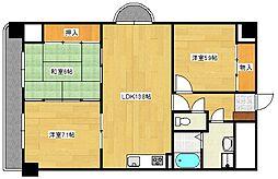 広島県広島市西区己斐本町3丁目の賃貸マンションの間取り
