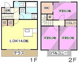 [テラスハウス] 埼玉県新座市石神2丁目 の賃貸【/】の間取り