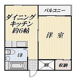 第五メゾンクレール[305号室]の間取り
