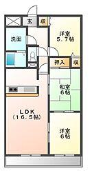 悠和苑[9階]の間取り