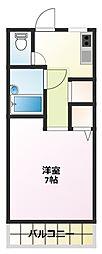 鹿ノ戸コーポ[2階]の間取り