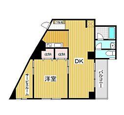 東京メトロ日比谷線 入谷駅 徒歩3分の賃貸マンション 3階2SDKの間取り