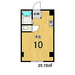 竹田マンション[410号室]の間取り