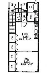 埼玉県さいたま市南区別所2丁目の賃貸アパートの間取り