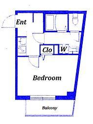 都電荒川線 荒川遊園地前駅 徒歩3分の賃貸マンション 3階1Kの間取り