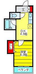 大阪府大阪市生野区新今里4丁目の賃貸マンションの間取り