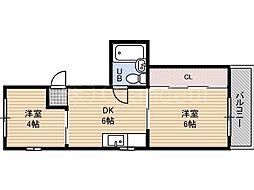 ウエムラビル[3階]の間取り