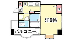 兵庫県神戸市中央区北長狭通5丁目の賃貸マンションの間取り