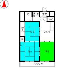 ロイヤルハイツ白子駅[4階]の間取り