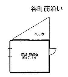 Osaka Metro谷町線 谷町六丁目駅 徒歩3分の賃貸店舗事務所